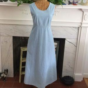 Vintage Laura Ashley Boho Chambray Maxi Dress